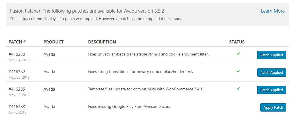 Avada补丁工具Fusion Patcher