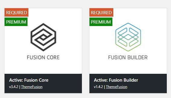 avada安装fusion core和fusion builder插件