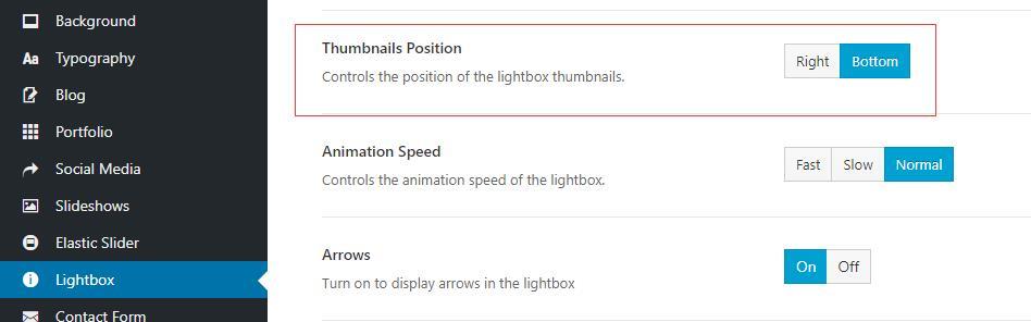 avada设置lightbox方向