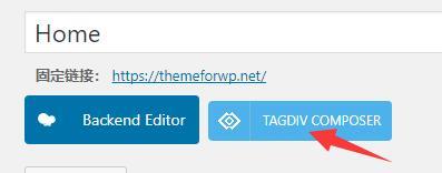 使用tagdiv可视化编辑器布局