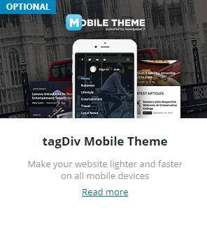 Newspaper手机主题插件tagDiv Mobile Theme