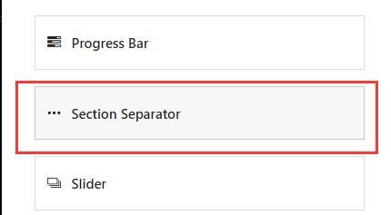 avada添加页面分隔器