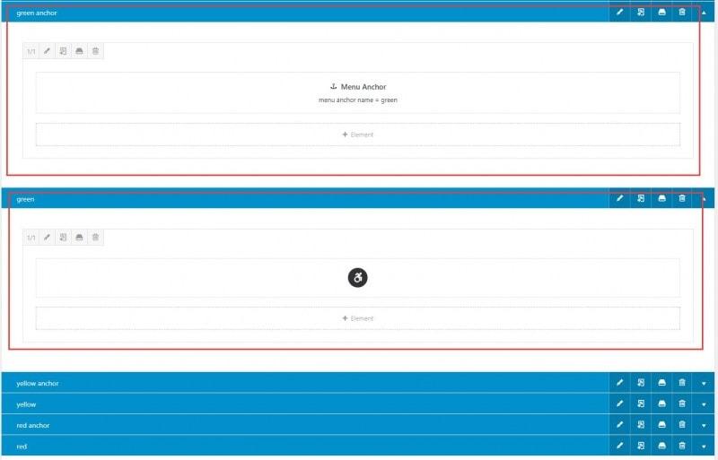 Avada单页网站的结构