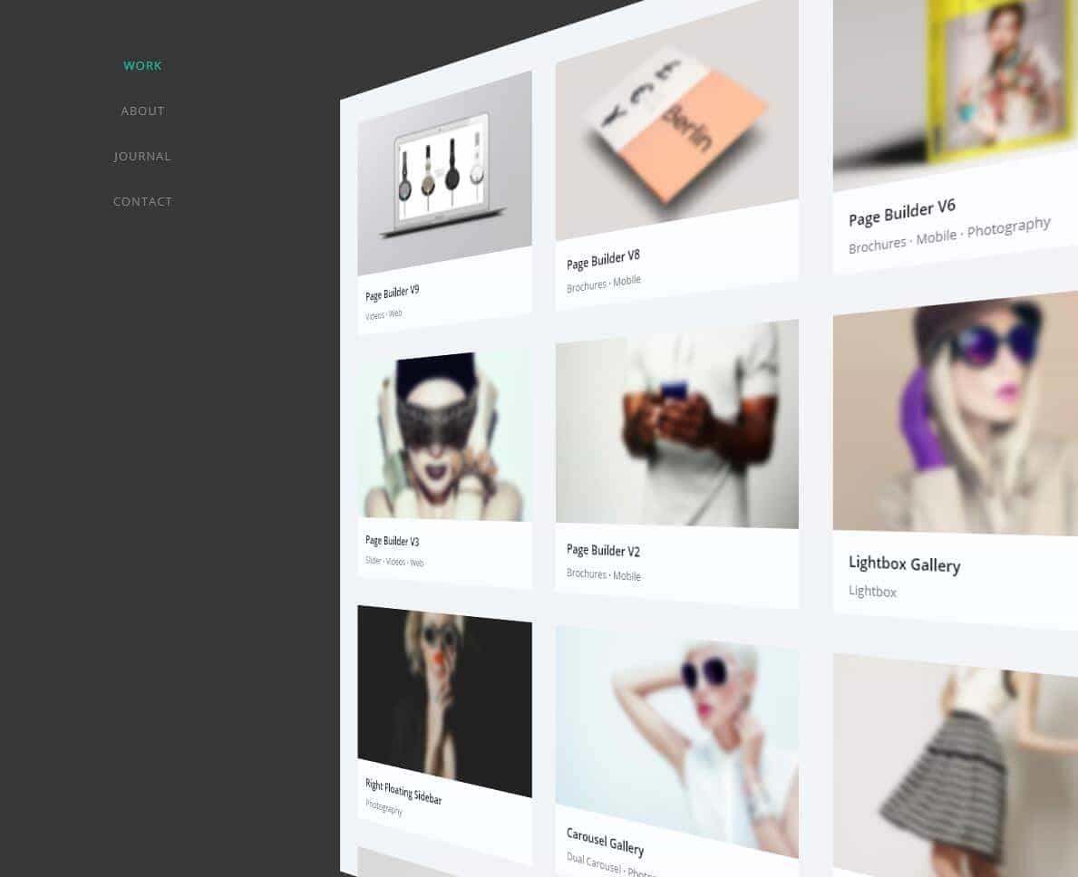 Oshine主题3D菜单
