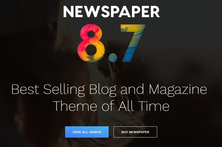 Themeforest排行第十主题 Newspaper主题