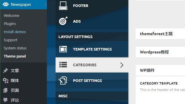 Newspoaper自定义分类模板