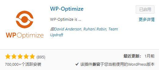 WP-Optimize下载安装
