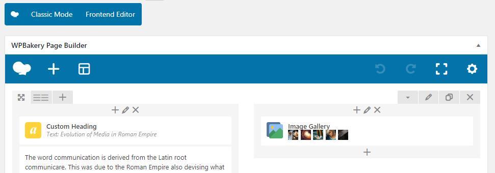 WPBakery Page Builder可视化编辑器