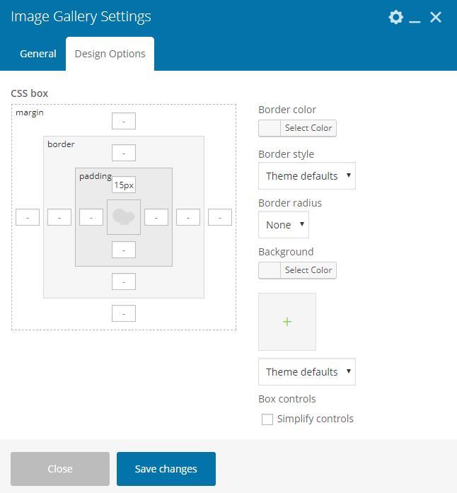 WPBakery Page Builder样式选项
