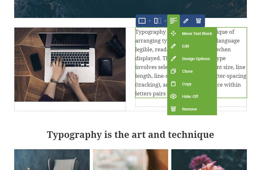 Visual Composer编辑工具
