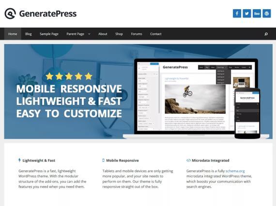 GeneratrePress主题