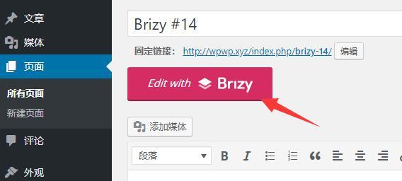 Wordpress使用Brizy编辑网页