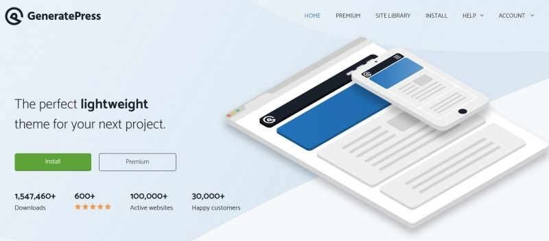 GeneratePress Theme Official Website