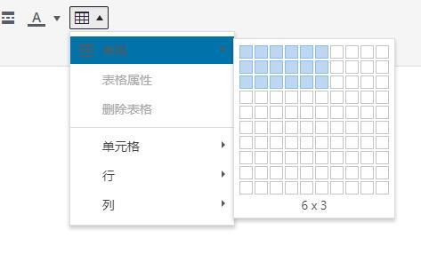 TinyMCE Advanced添加表格