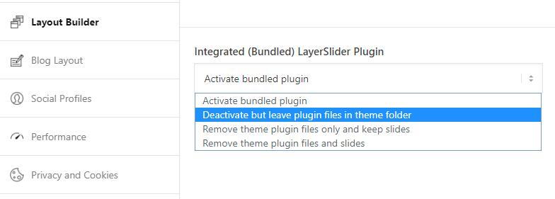 Enfold主题禁用Layerslider插件