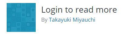 Wordpress登录查看插件 Login to read more