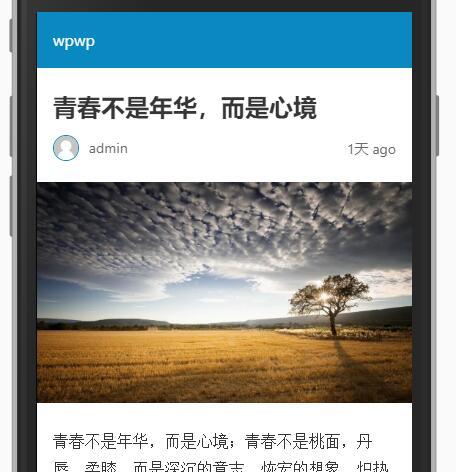AMP网页效果