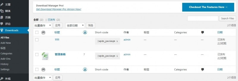 Wordpress Download Manager下载类型文章