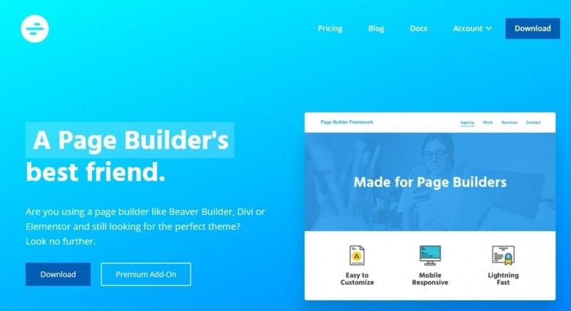 Page Builder Framework主题
