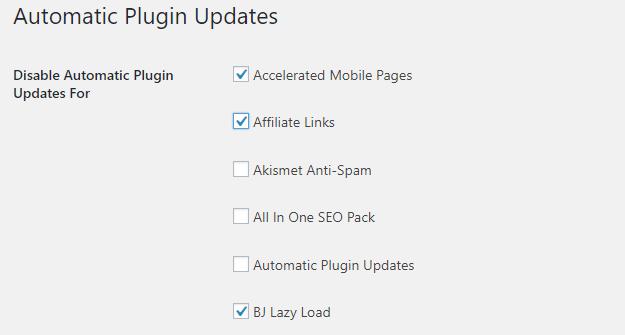 筛选自动更新的插件