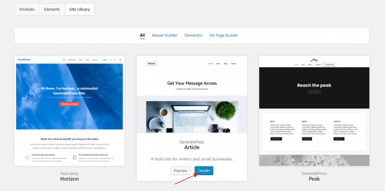 GeneratePress主题导入演示站方法