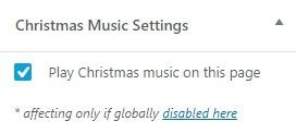 圣诞音乐播放设置