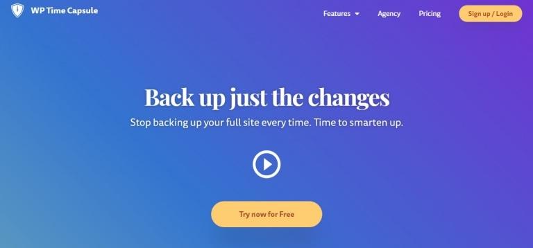 WP Time Capsule 一款WordPress增量备份插件