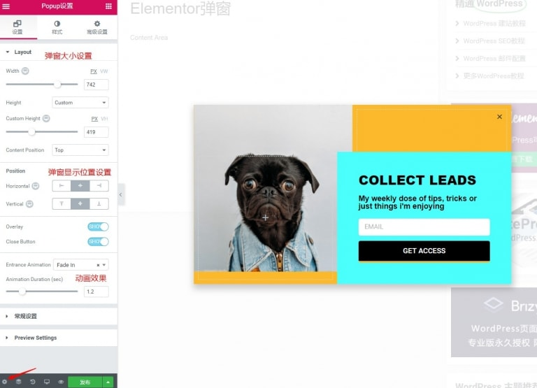 Elementor创建弹窗教程(Elementor Popup Builder)