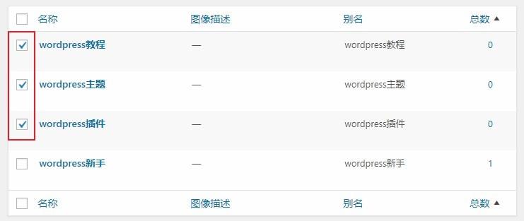 wordpress批量删除无用标签