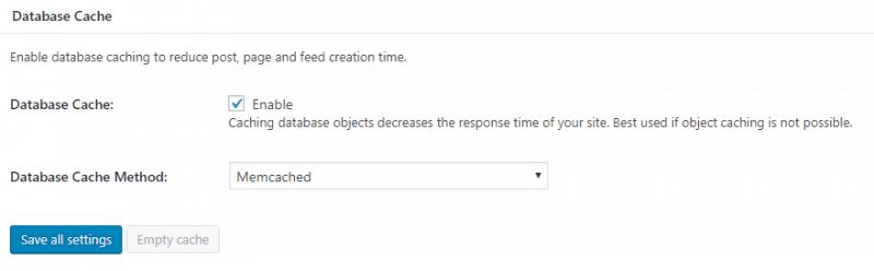 数据库缓存使用Memcached