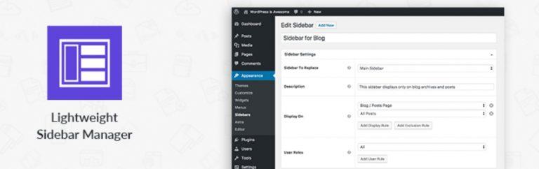 如何为WordPress添加动态侧边栏