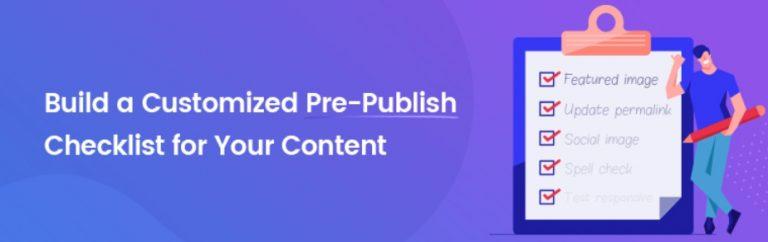 Pre-Publish Checklist 为WordPress添加一个文章发布检查清单