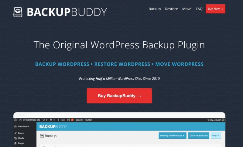 wordpress备份插件BackupBuddy